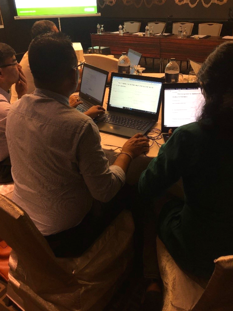 Participants completing the risk management state of PRA using the PRA tool.