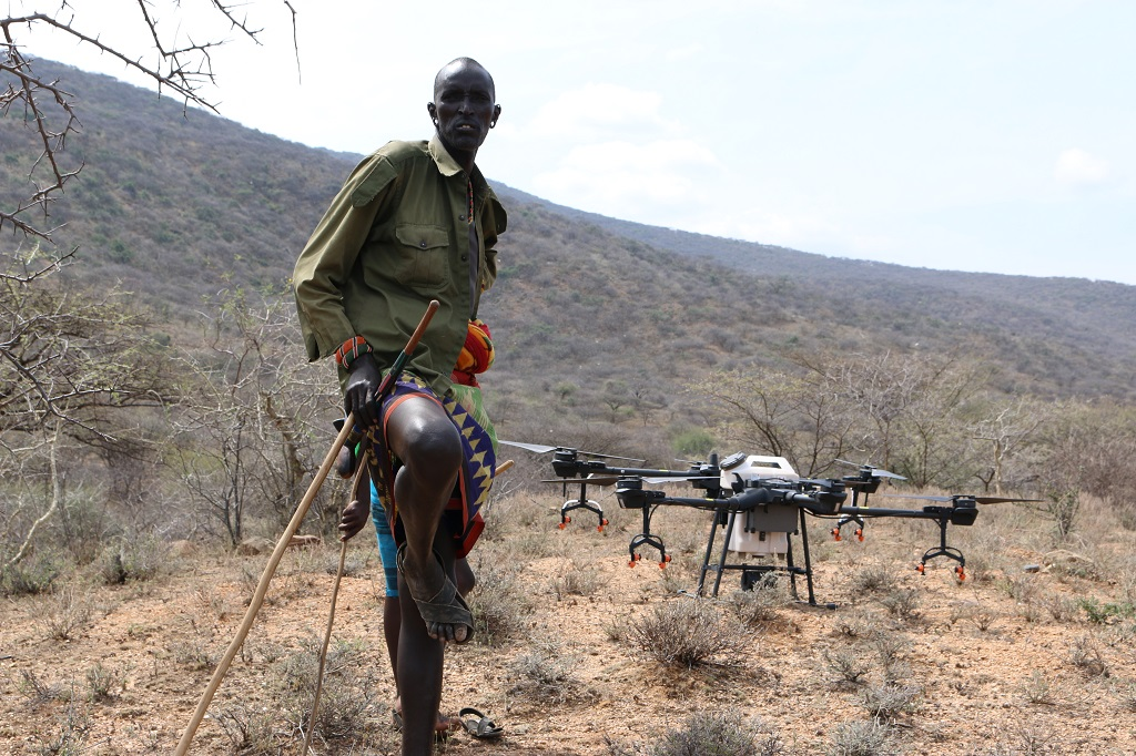 Masai with drone